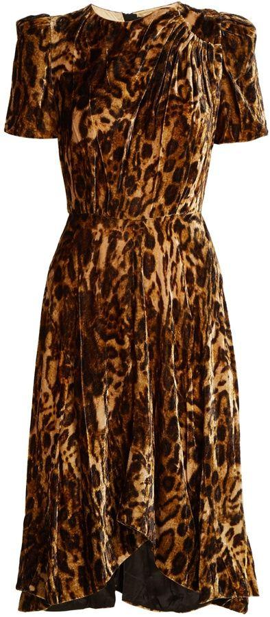 baca942bc99b ISABEL MARANT Ulia leopard-print velvet dress   Fashion Flair ...