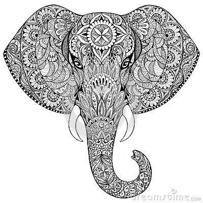 elephant zentangle | mandala | pinterest | zentangle
