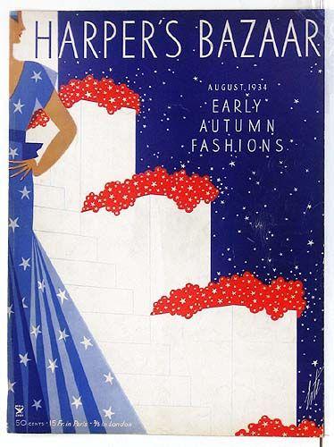 Original 1930s Erte Harpers Bazaar Covers For Sale