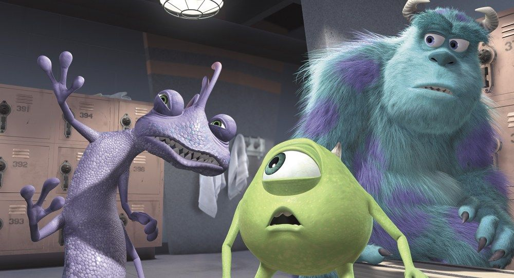 Randall with Mike and Sully Monsters Inc The Winds of Change