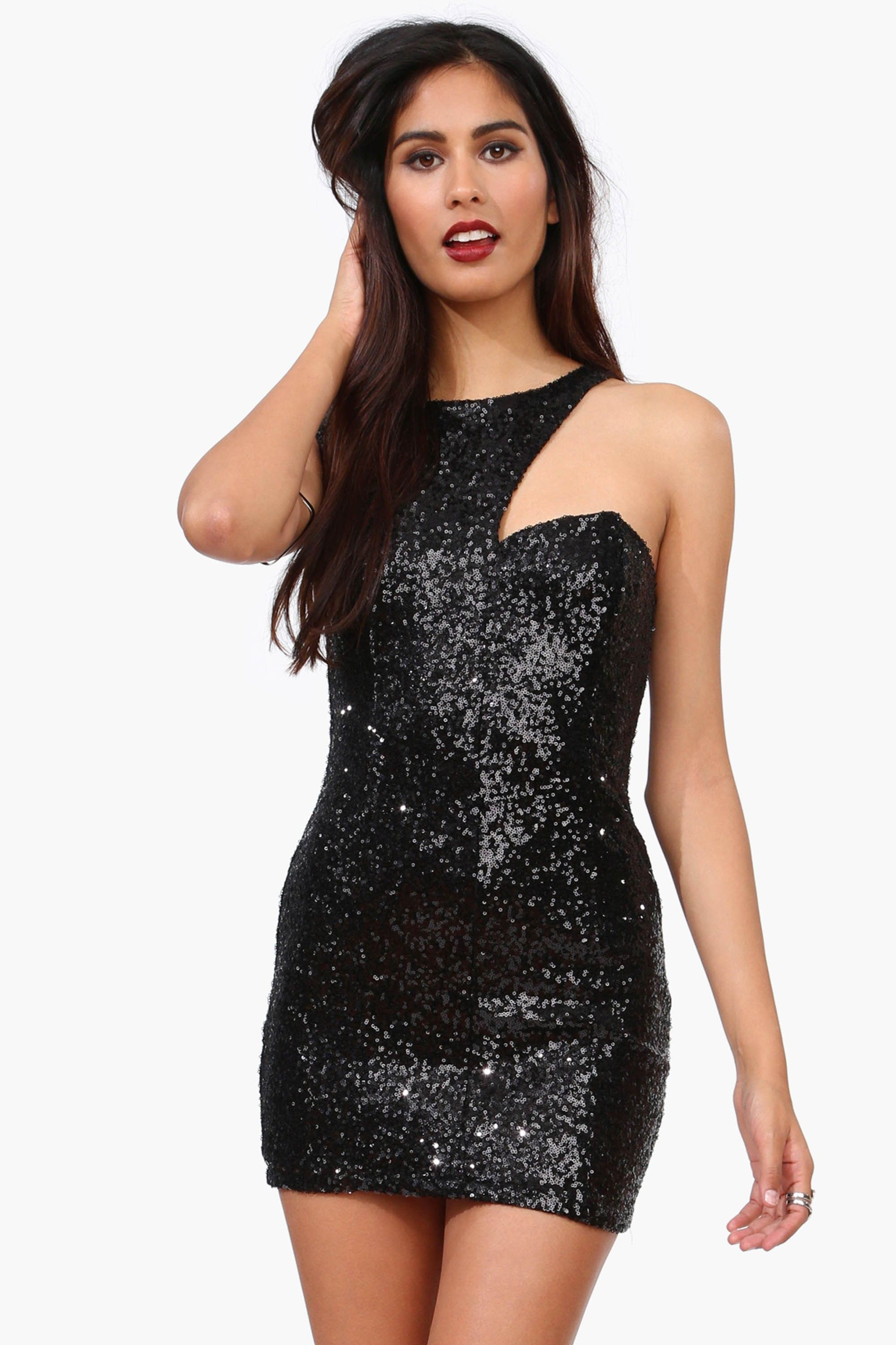 dad8b1e18c Sequin Lil Black Dress Sequins Tail