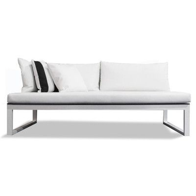 Harbour Outdoor Piano Sofa with Cushions Seat: White, Frame ...