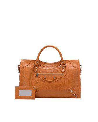 Giant 12 Nickel City Bag, Tangerine by Balenciaga at Neiman Marcus.
