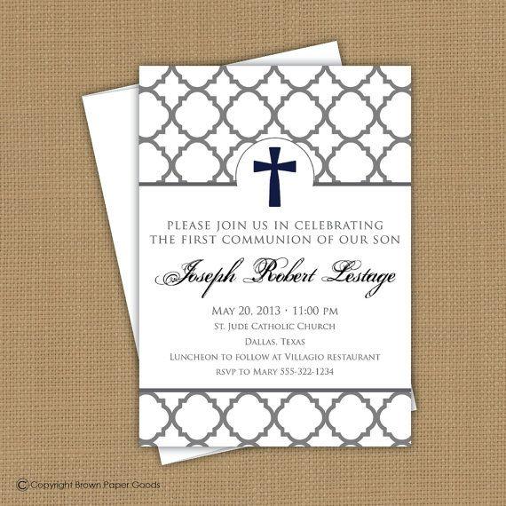 Preferred Natalie Jost Porfyris Confirmation invitation. First Communion  FT87