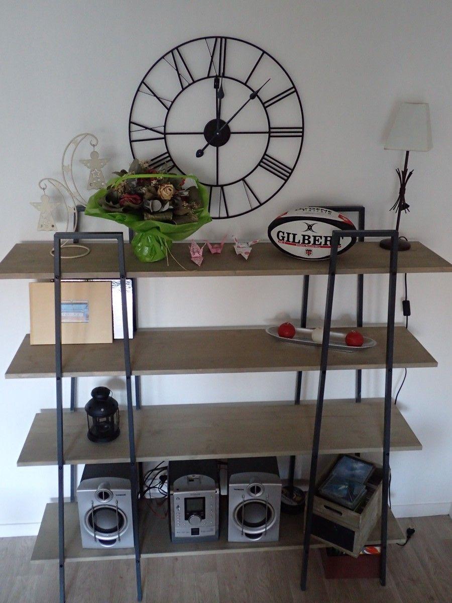 Fabriquer Des Tag Res Style Industriel Partir D Tag Res Ikea  # Etagere En Planche Brute