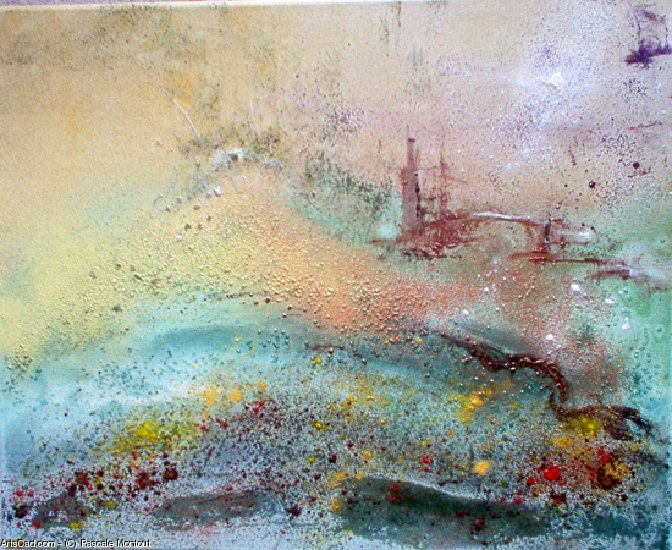 Artwork >> Pascale Montout >> the 7ème day  #artworks, #masterpiece, #painting, #art, #abstract