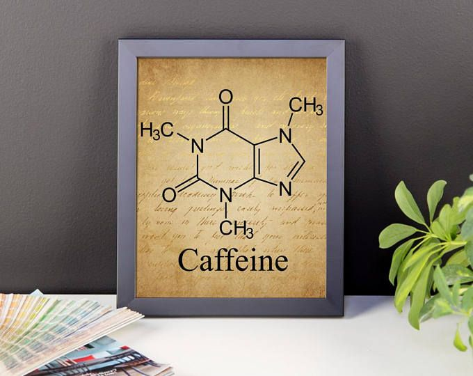 CUSTOM FRAMED POSTER Caffeine Poster Coffee Poster Unique Wall Art ...
