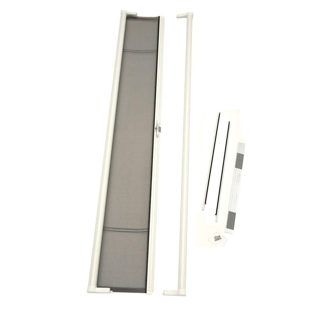 Odl 36 In X 97 In Brisa White Tall Retractable Screen Door Retractable Screen Door Single Wide Remodel Single Garage Door