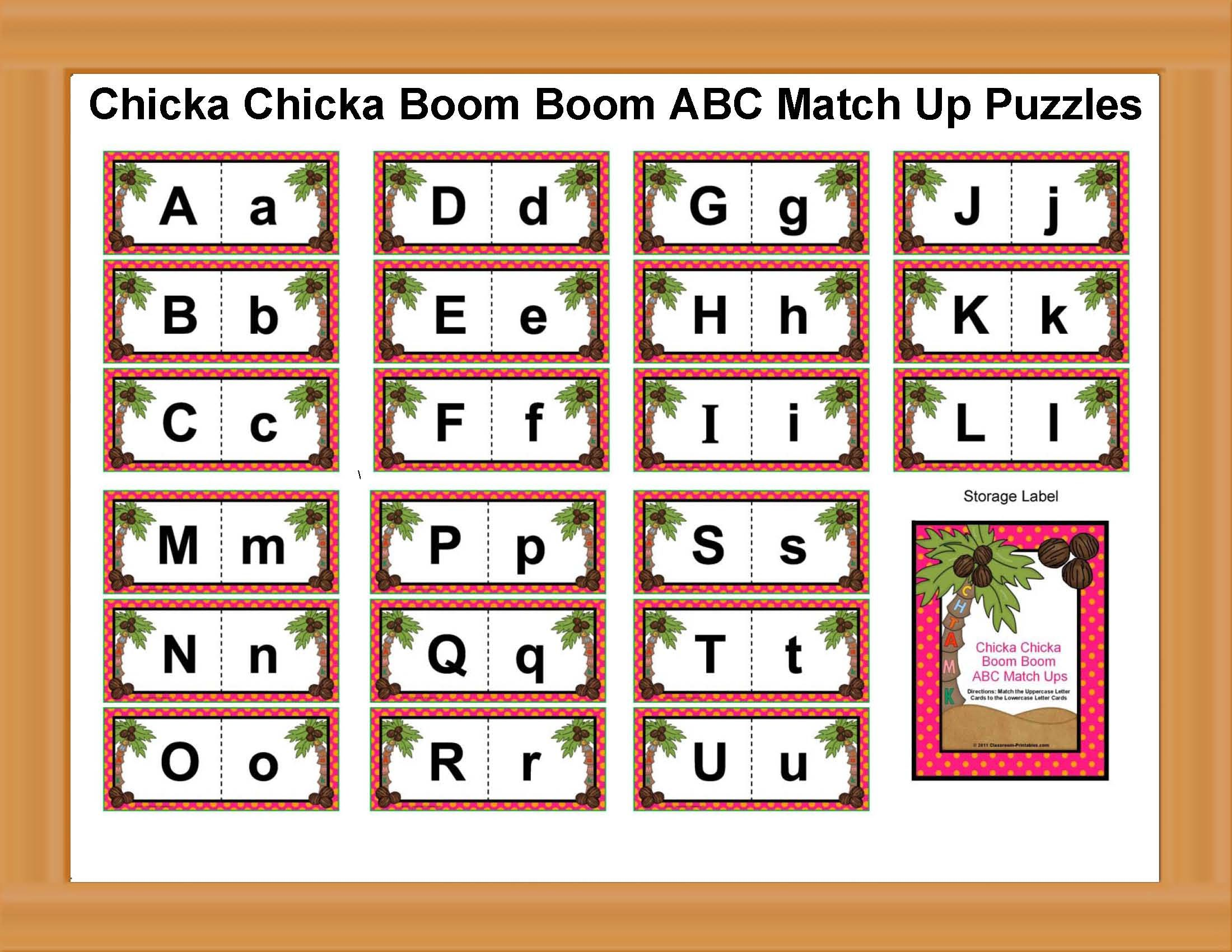 Chicka Chicka Boom Boom Printables