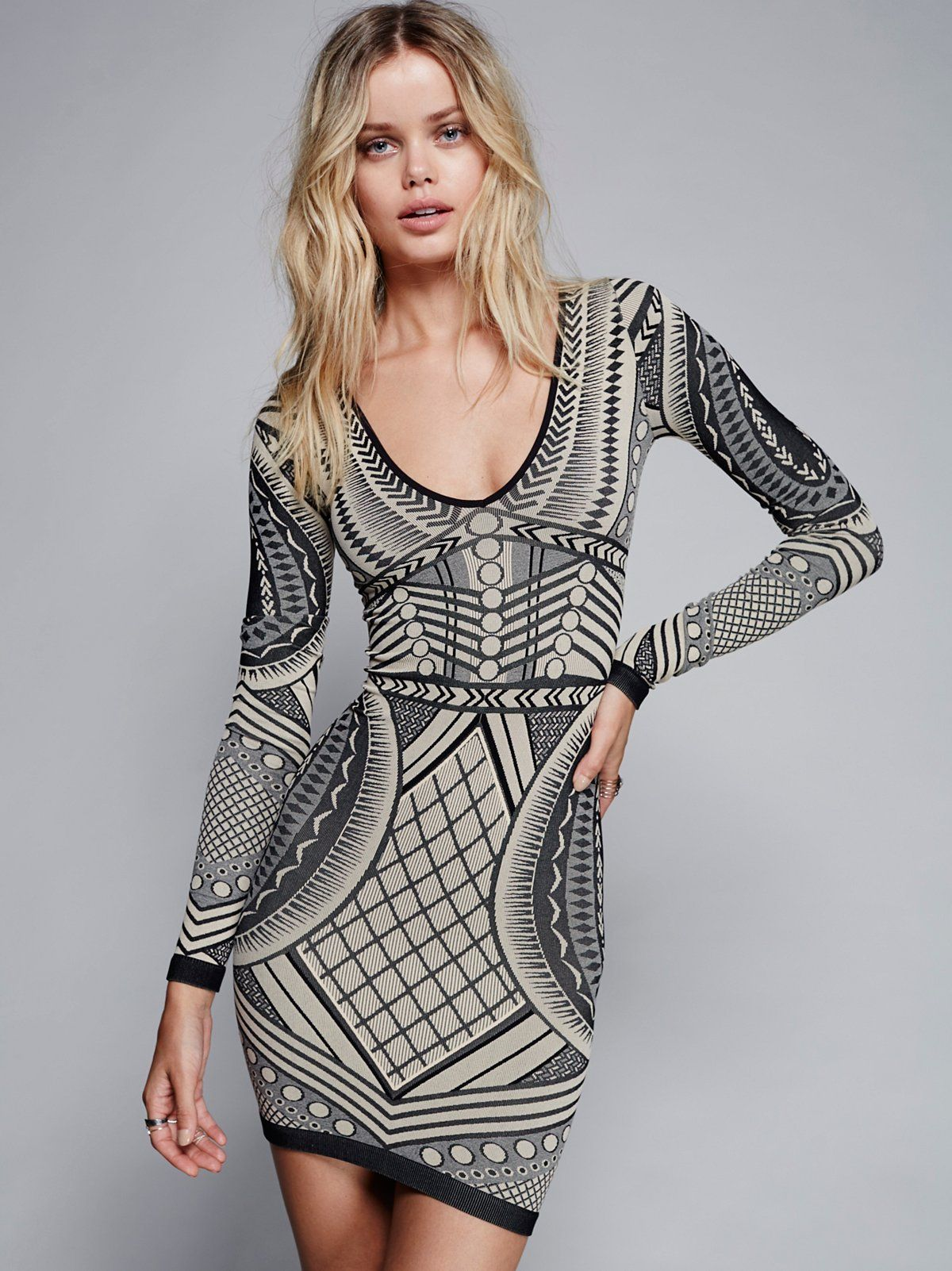 Free People Not An Illusion Bodycon | Illusions, Neckline and Minis