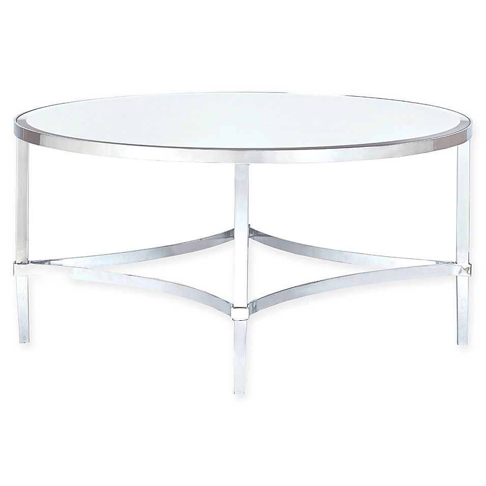 Madison Park Signature Triton Round Coffee Table In Silver Round