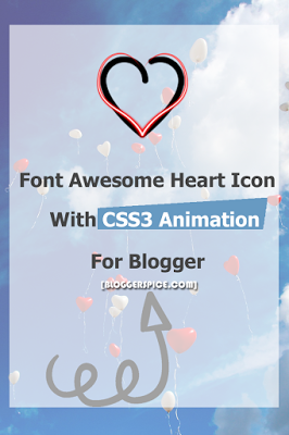 Add Pulse effect on Font Awesome Heart Icon with CSS3