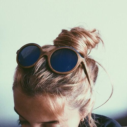 top knot and shades
