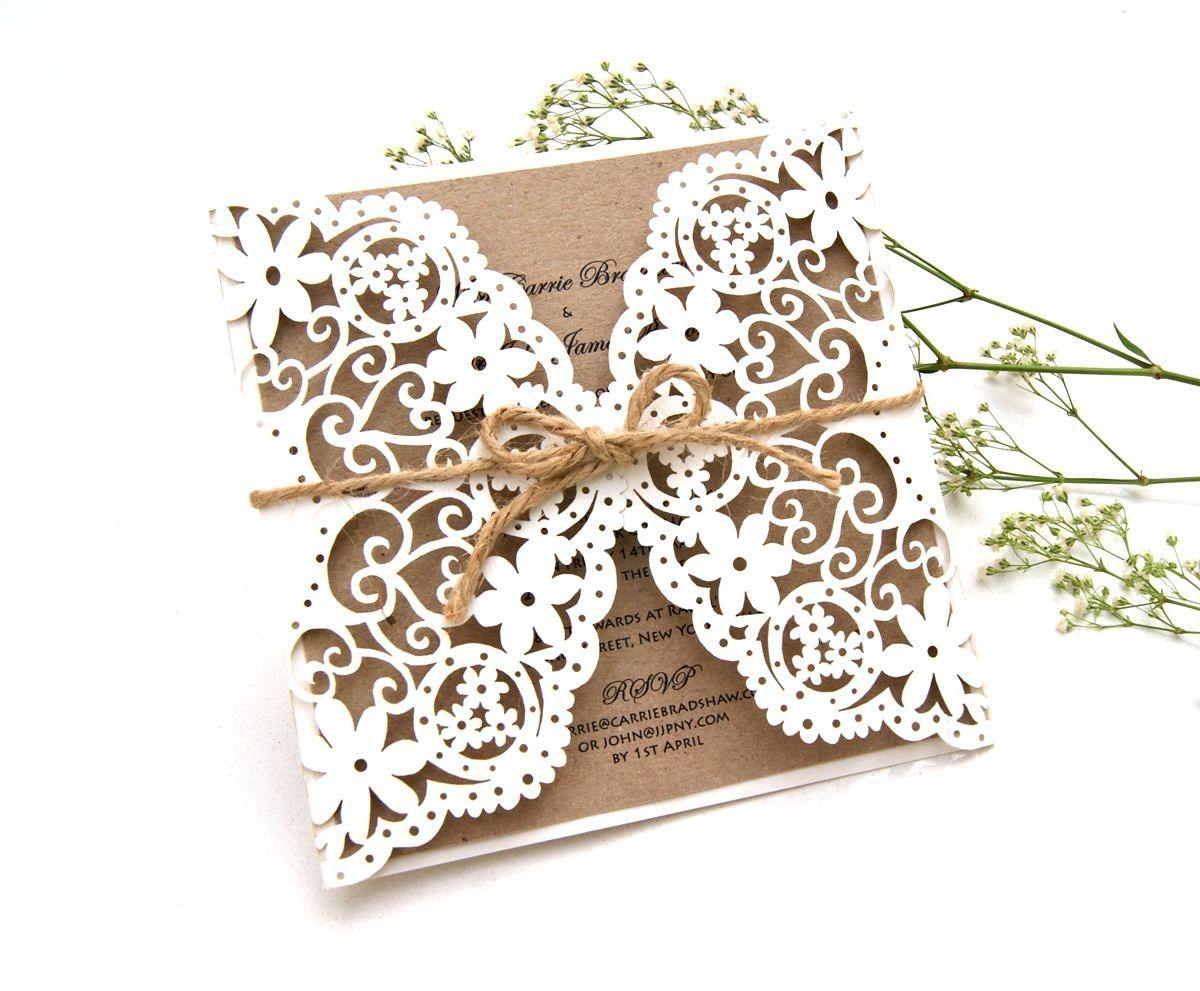 Lasercut wedding stationery by Hummingbird Card Company.
