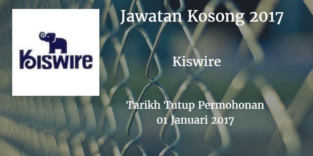 Jawatan Kosong KISWIRE 01 Januari 2017 Work experience