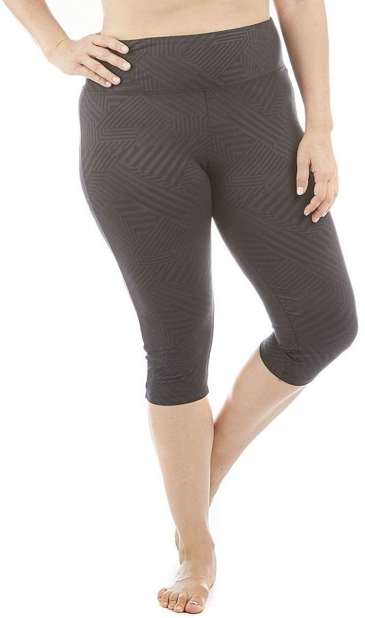 plus size balance collection embossed capri leggings *** want to