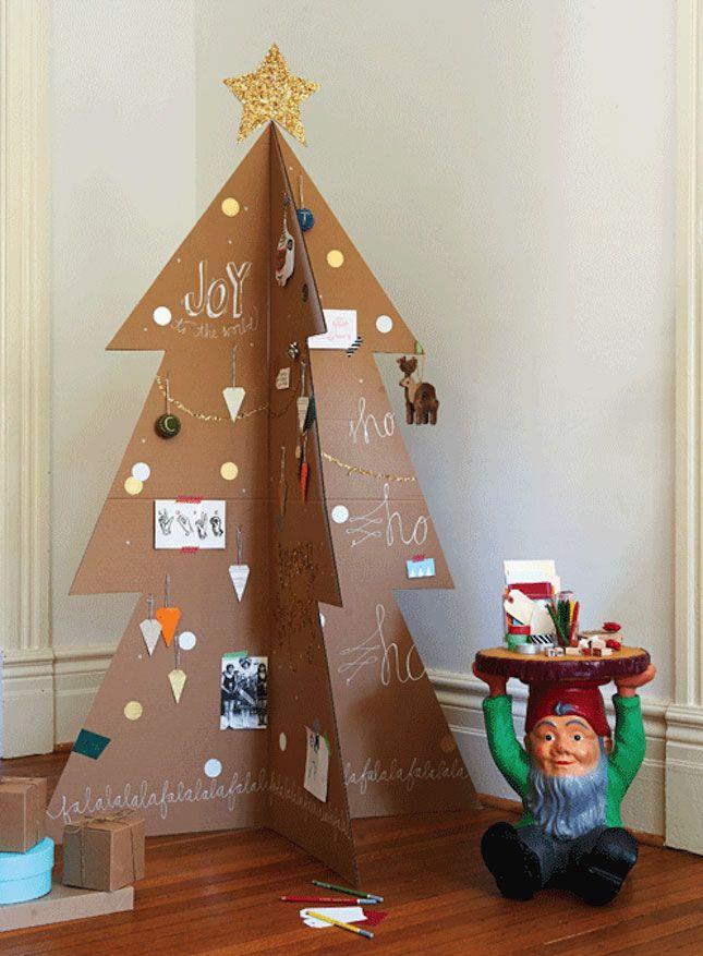 25 Alternatieven Voor Een Kerstboom Zelfgemaakte Kerstboom Moderne Kerst Kerstmis Diy