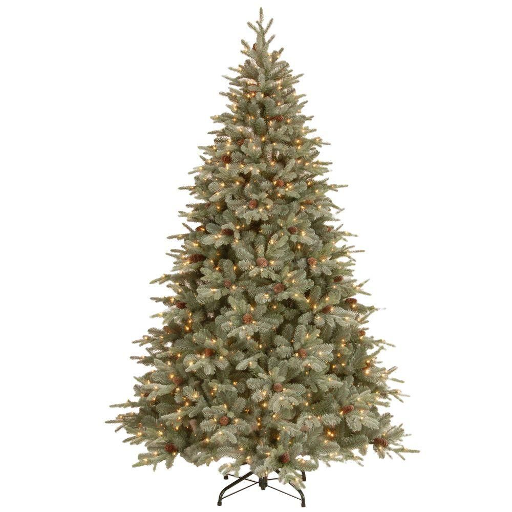 12 Ft Feel Real Alaskan Spruce Artificial Christmas Tree With Pinecones And 1200 Clea Pre Lit Christmas Tree Christmas Tree Lighting Artificial Christmas Tree