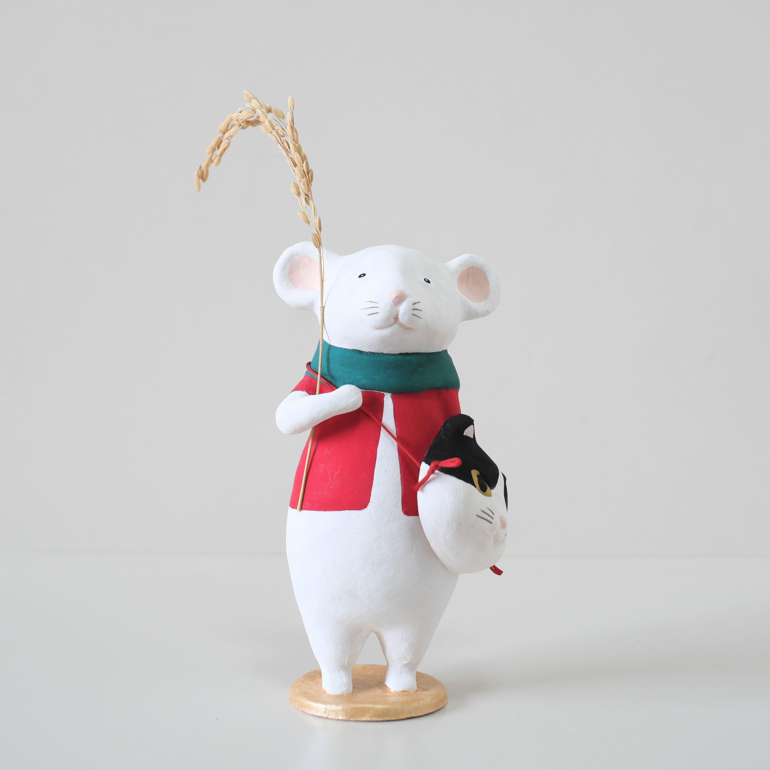 張り子「ねずお」猫面付 | 京都 羅工房 | 京雑貨【2020】 | 張り子 ...