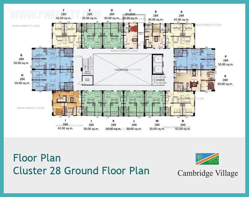 Empire East Cambridge Village Floor Plan Cluster 28 Ground