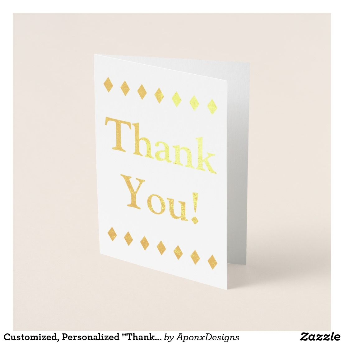 Customized Personalized Thank You Card Thank You Greeting