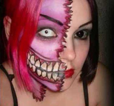Maquillaje-de-terror-para-Halloween4jpg (377×350) hallowen