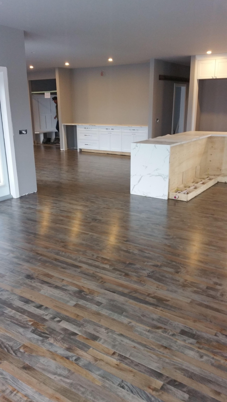 2 1 4 Maple Sand On Site Custom Mixed Stain Bona Mega Satin Three Coats Staining Wood Floors Oak Floor Stains Maple Hardwood Floors