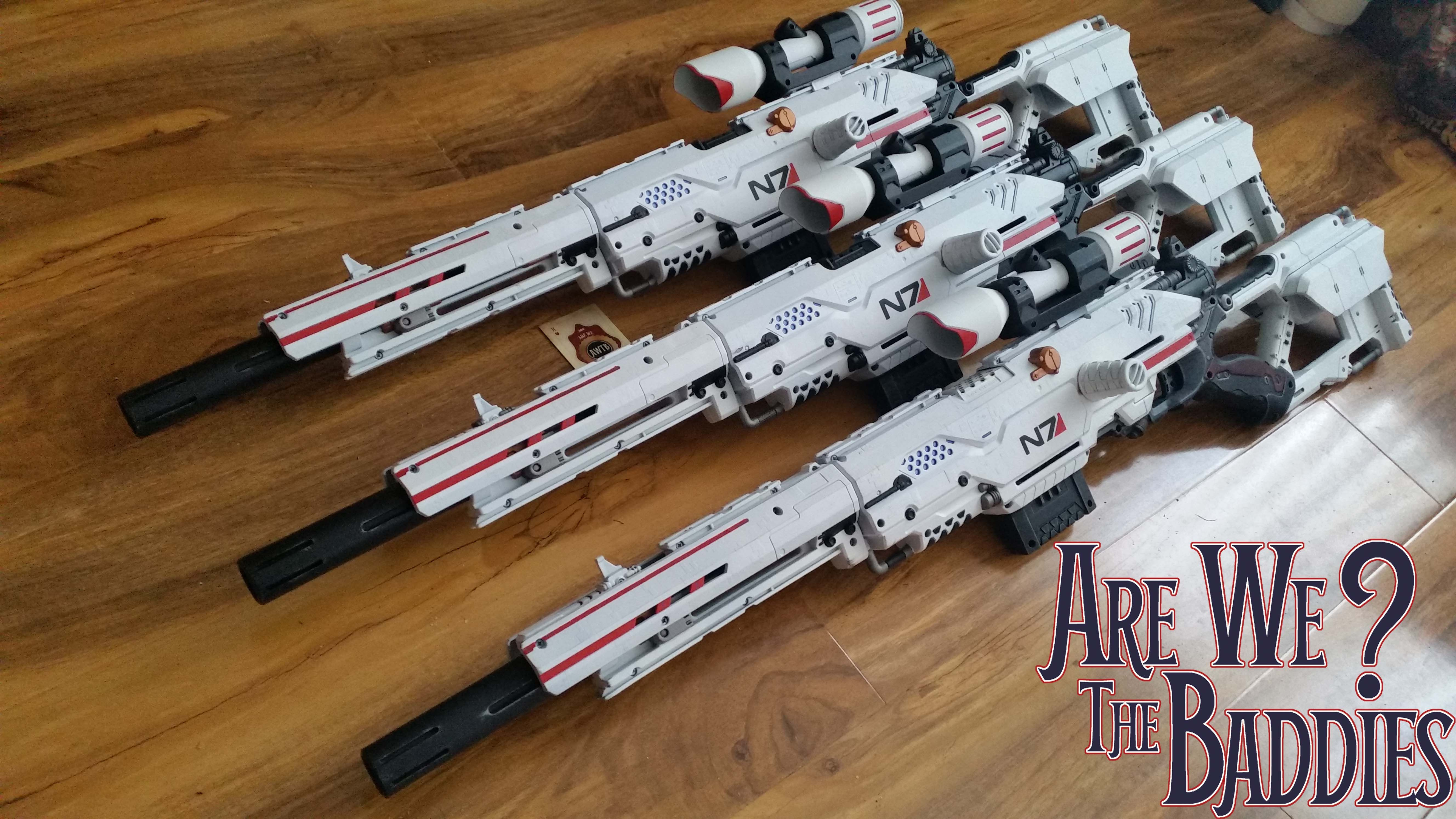 mass effect n7 sniper rifles created from just spending hours and