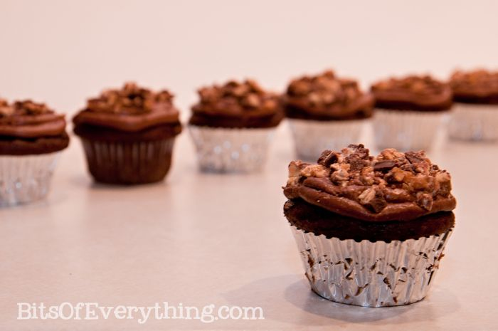 Snickers cupcakes - everything is better with chocolate