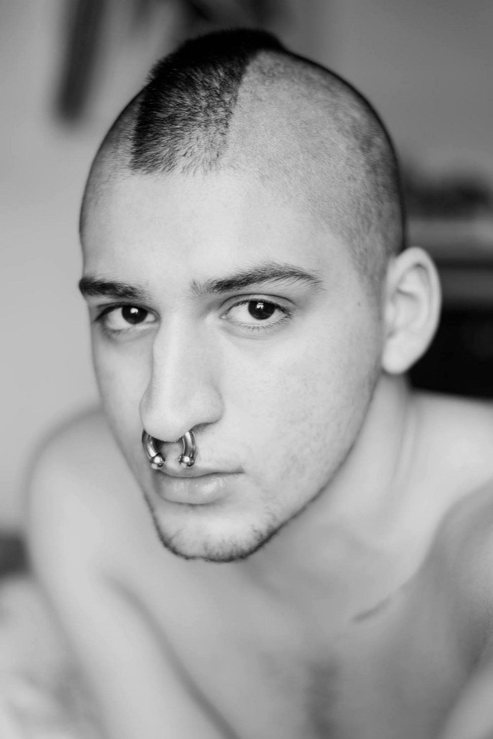Piercing nose man  This site is a collection of cool boys and guys expressing