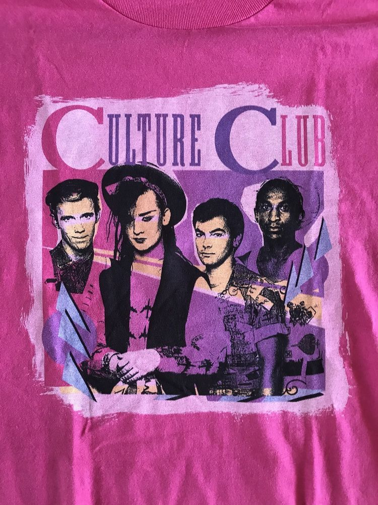 30f090cc1be VINTAGE CULTURE CLUB T SHIRT BOY GEORGE NEW OLD STOCK 1980s Size Large