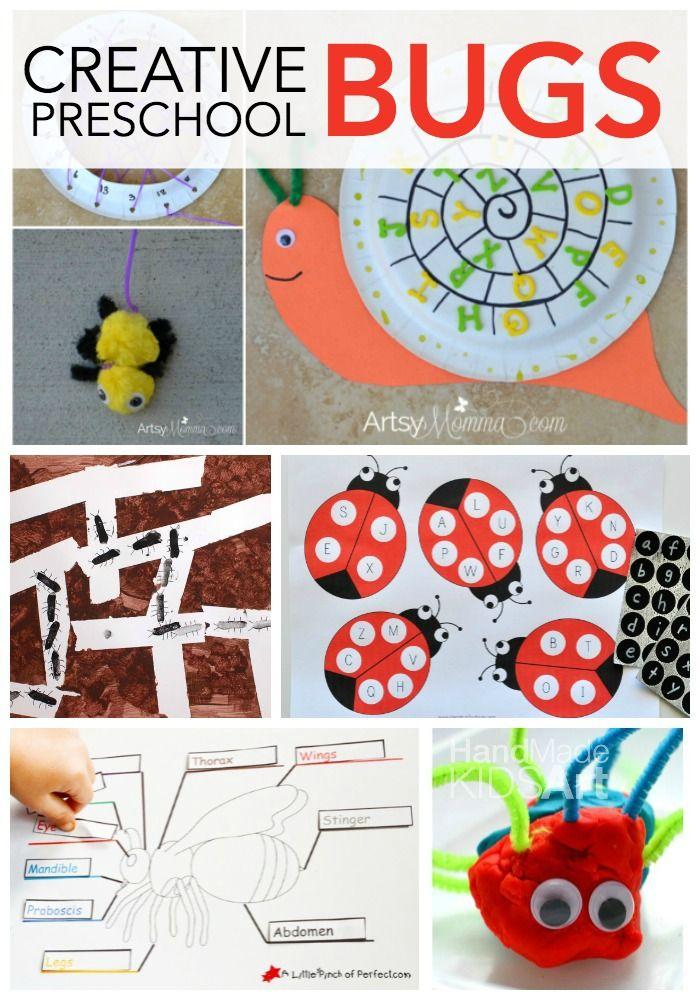 Creative Preschool Learning with Bugs   Preschool learning ...