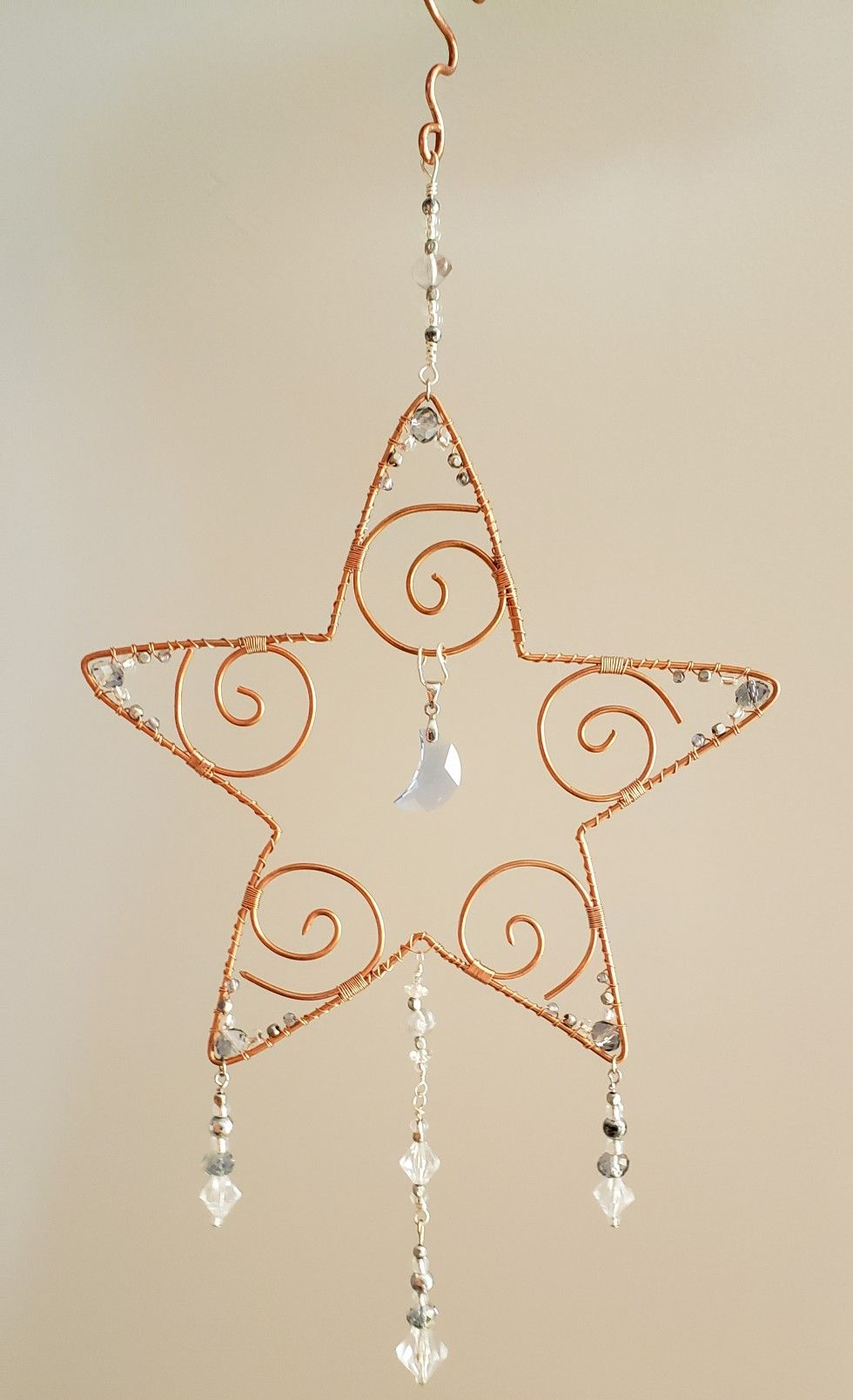 Beaded Sparkly Star By Me Handmade Wire Jewelry Wire Ornaments Wire Work Jewelry
