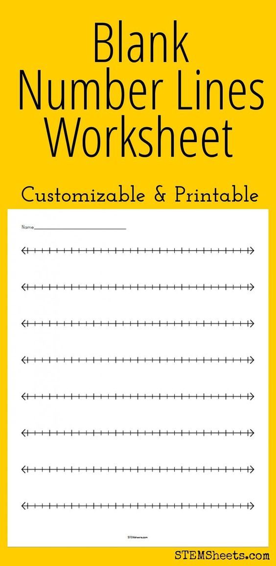 Blank Number Lines Worksheet Customizable And Printable Teaching