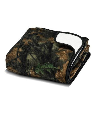 Look what I found on #zulily! Highland Timber Camo Plush Throw #zulilyfinds