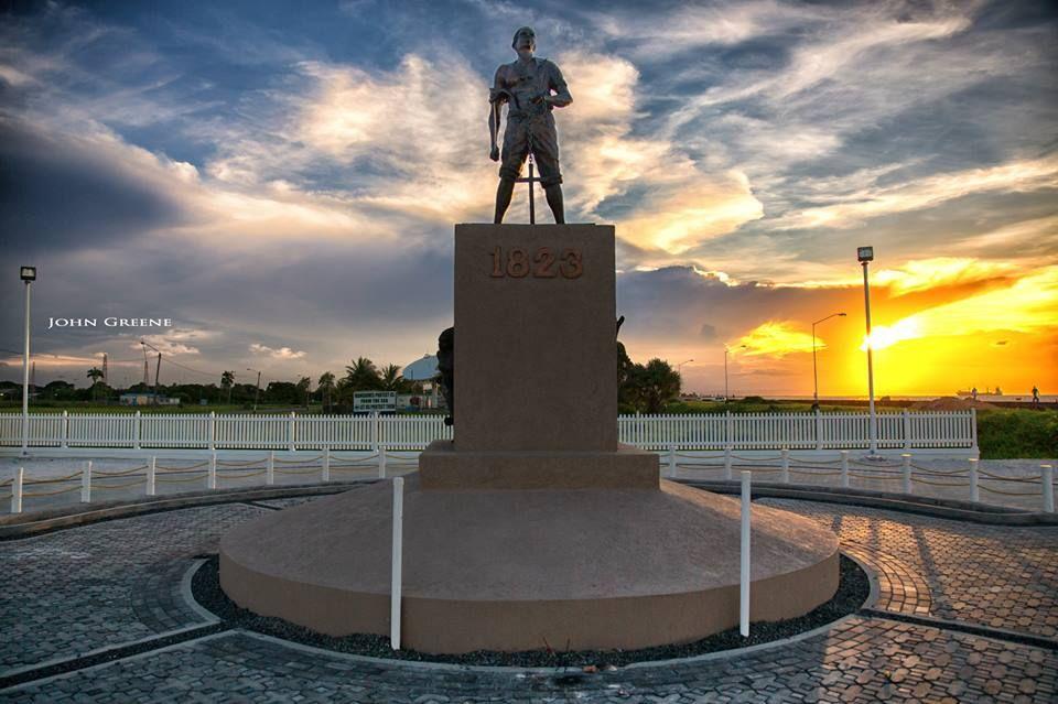 1823 Slave Revolt monument can be found at the Kitty/ Ayangana seawalls. (John Greene photo)