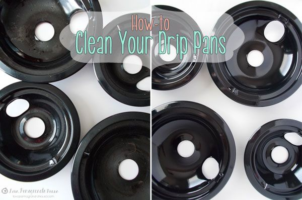 how to clean stove drip pans with ammonia