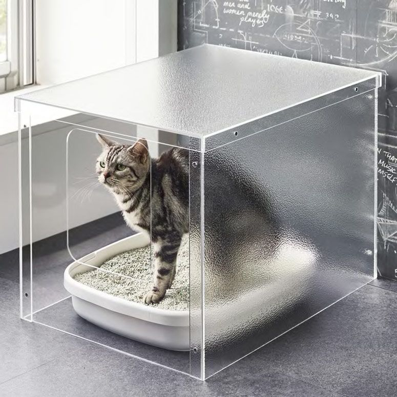 Minimalist Acrylic Cat Litter Box Cover Cat Litter Cat Litter Tray Cat Litter Box