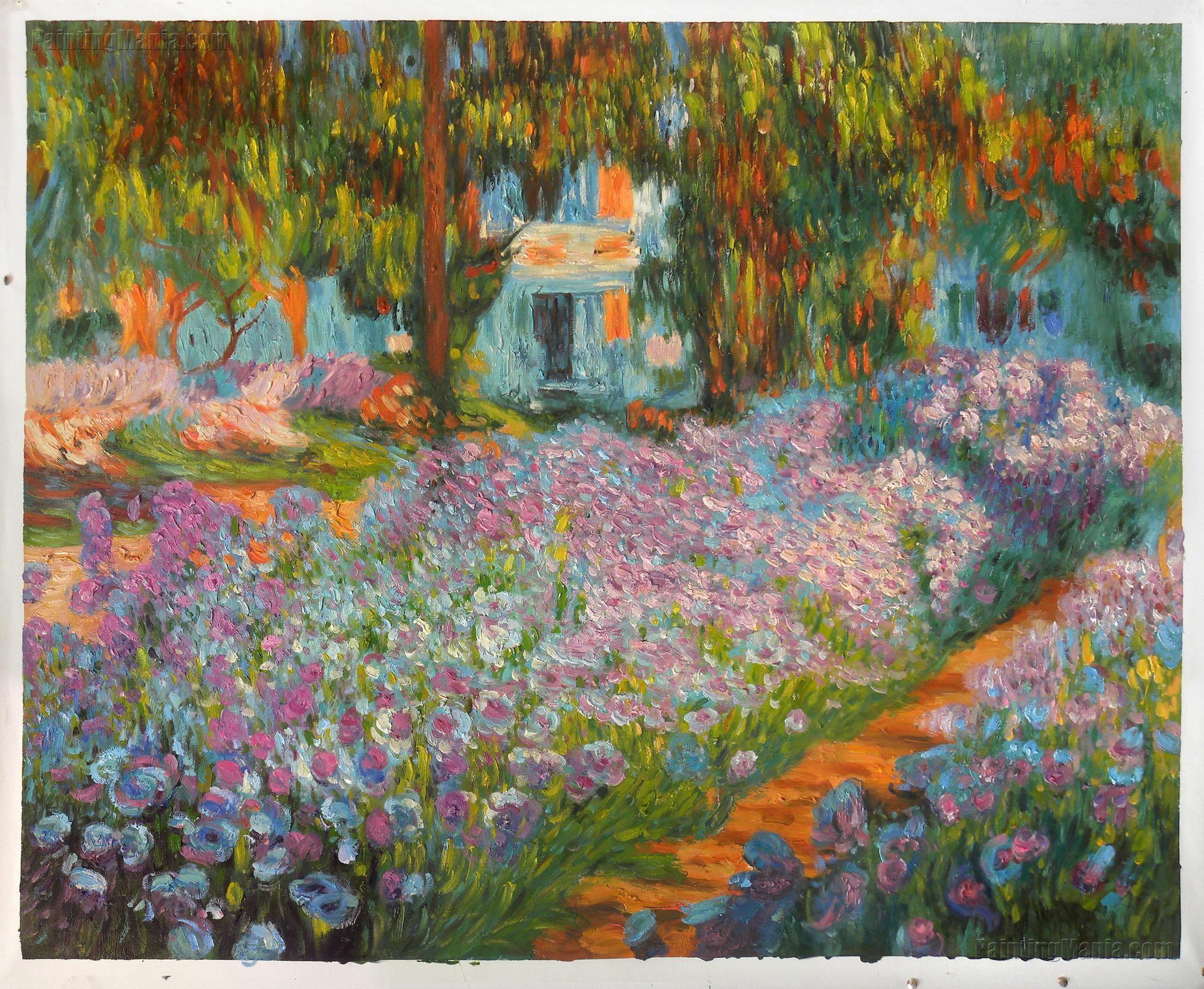 Irises In Monet S Garden 1900 Monet Paintings Large Wall