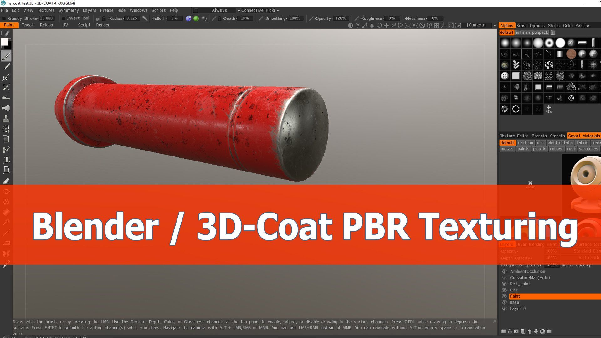 Blender and 3DCoat workflow for PBR texturing