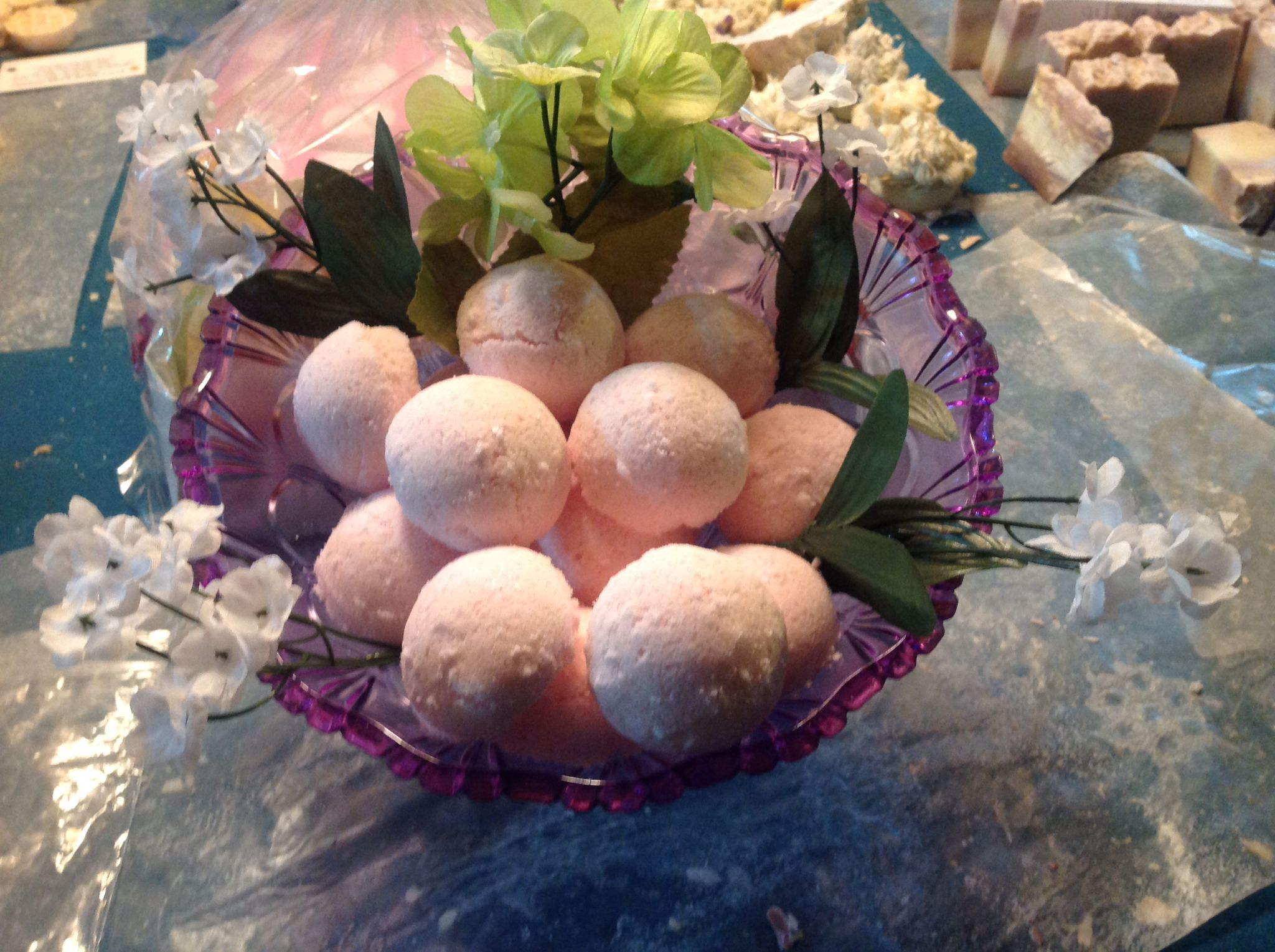 My pinkalishes bath bombs.   See my Facebook page Evy's Home Made Goodies