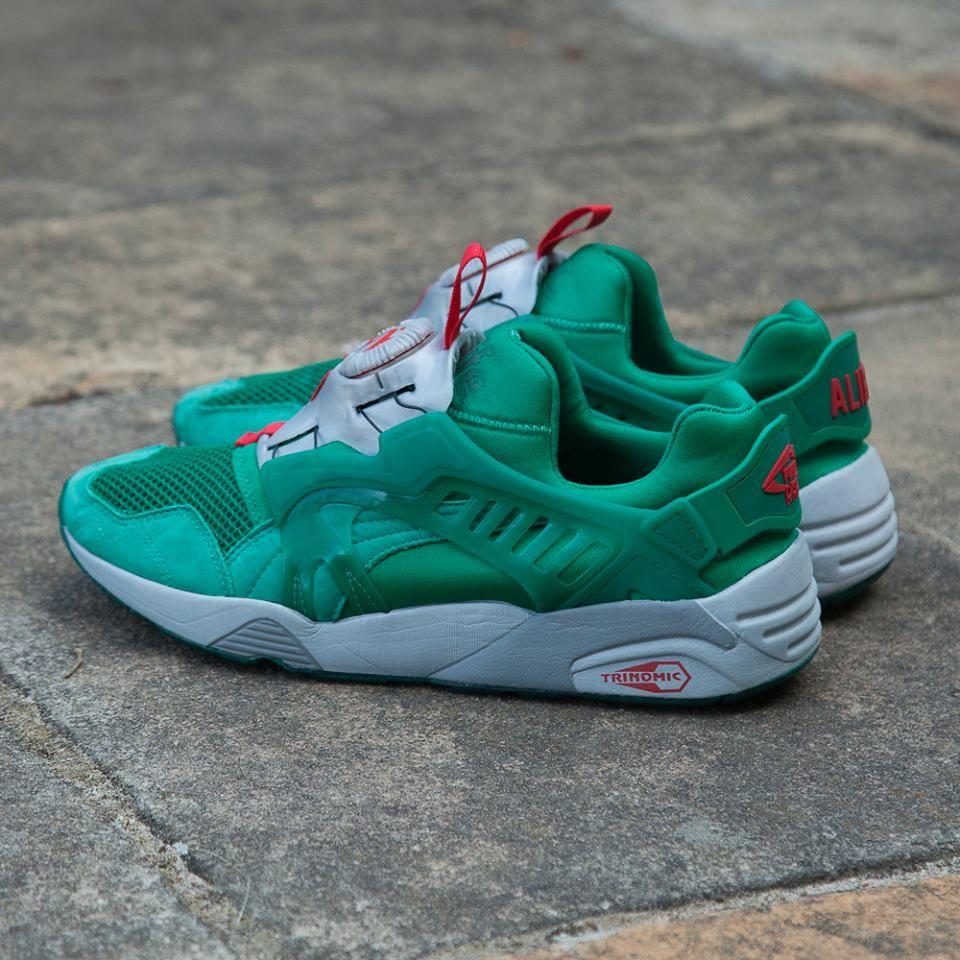 Shoes Outlet - Puma - Disc Blaze Felt Green Sneaker Sports Shoes Green