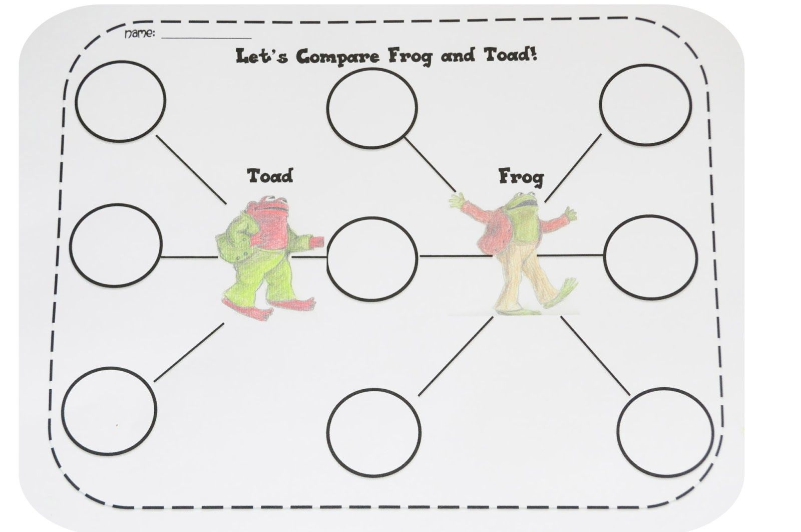 Free Worksheet Frog And Toad Together Worksheets 17 best images about compare and contrast on pinterest graphic organizers literacy fiction