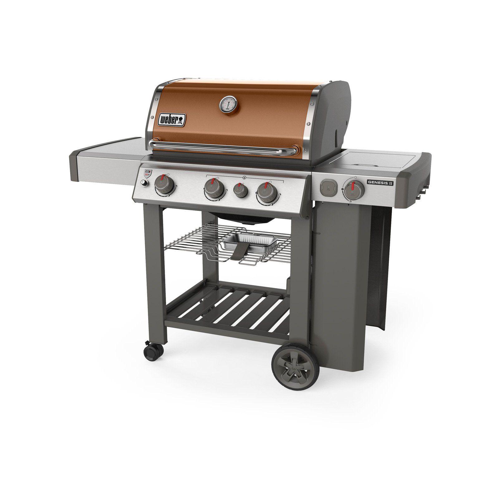 Weber Genesis Ii E 330 3 Burner Gas Grill Copper Propane Gas Grill Grilling 3 Burner Gas Grill