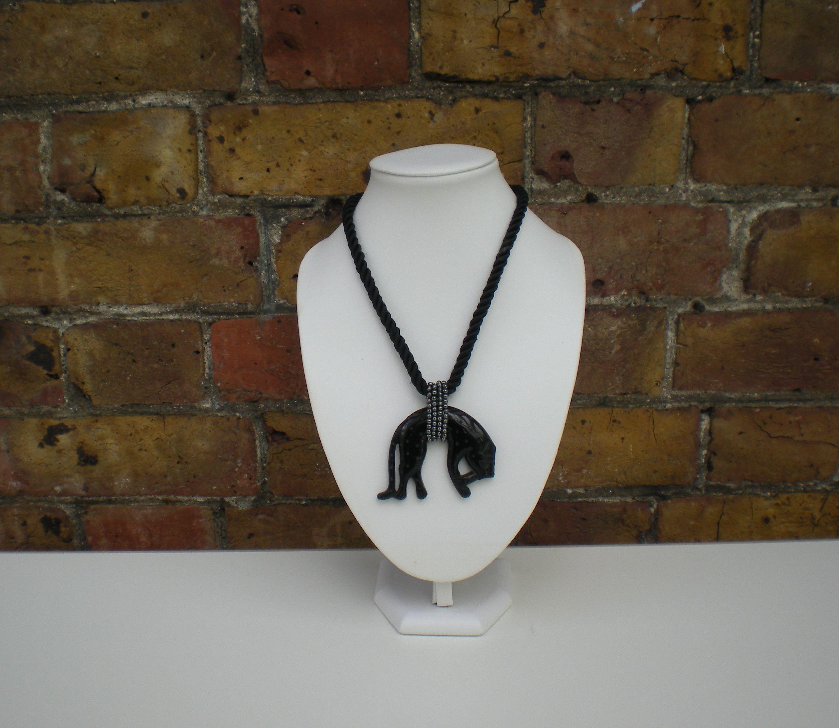 Vintage YSL panther necklace from Lovelyus Vintage Emporium