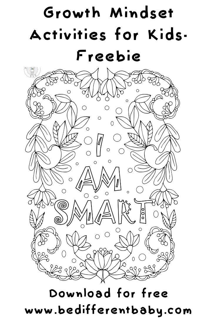Kids Growth Mindset Coloring Pages Be Different Baby Coloring Pages Coloring For Kids Free Affirmations For Kids