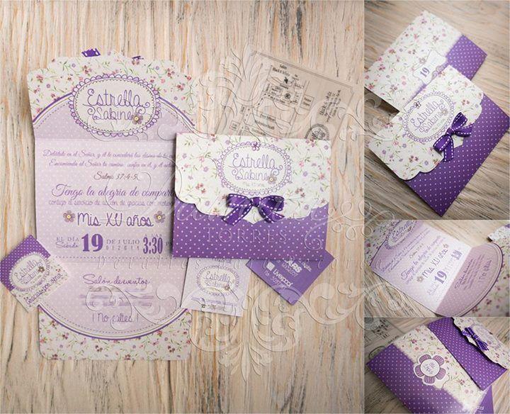 Violet Invitaciones Invitacion Xv Años Y Tarjetas De