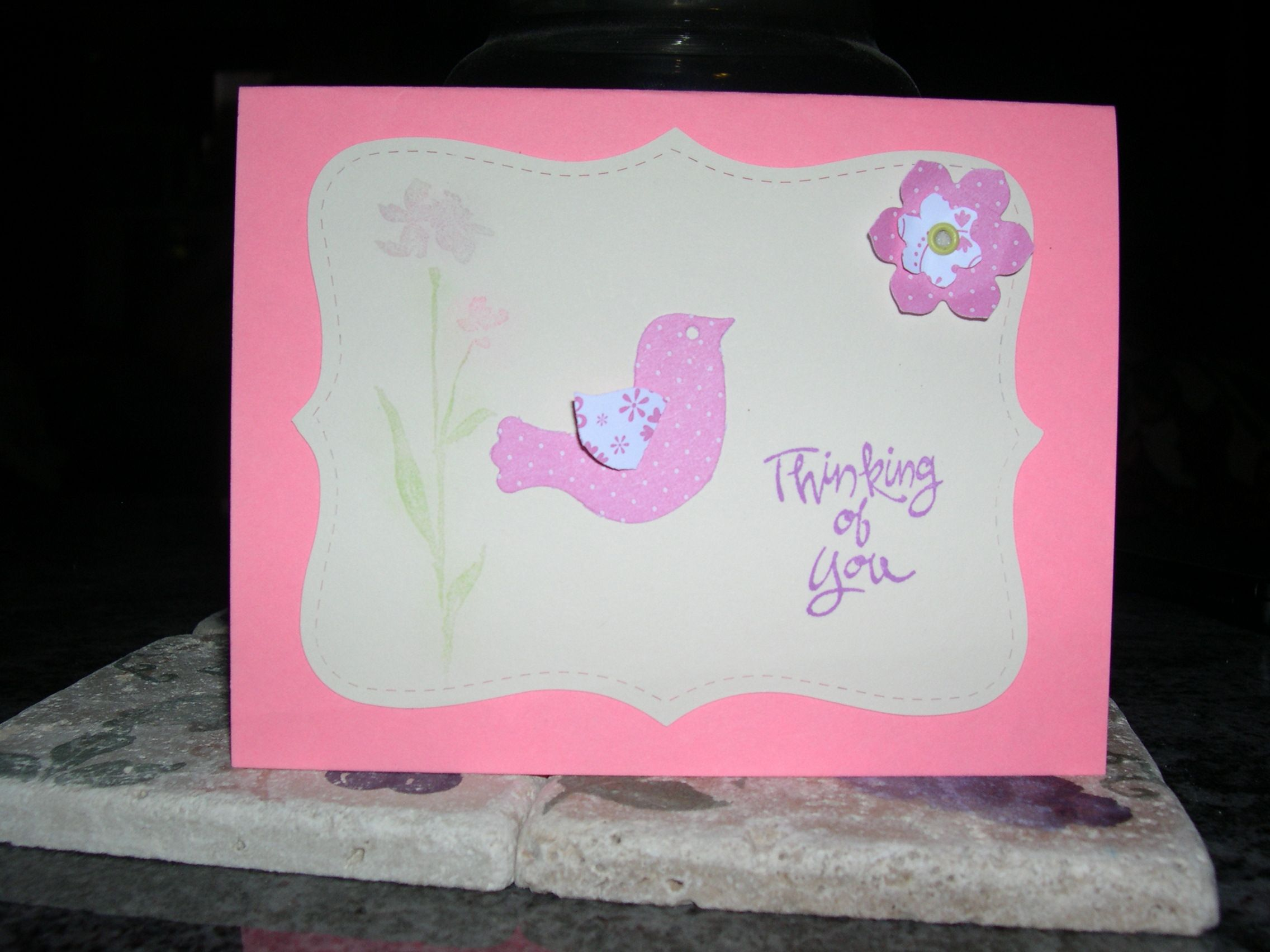 Thinking of You card...using Stampin Up products.