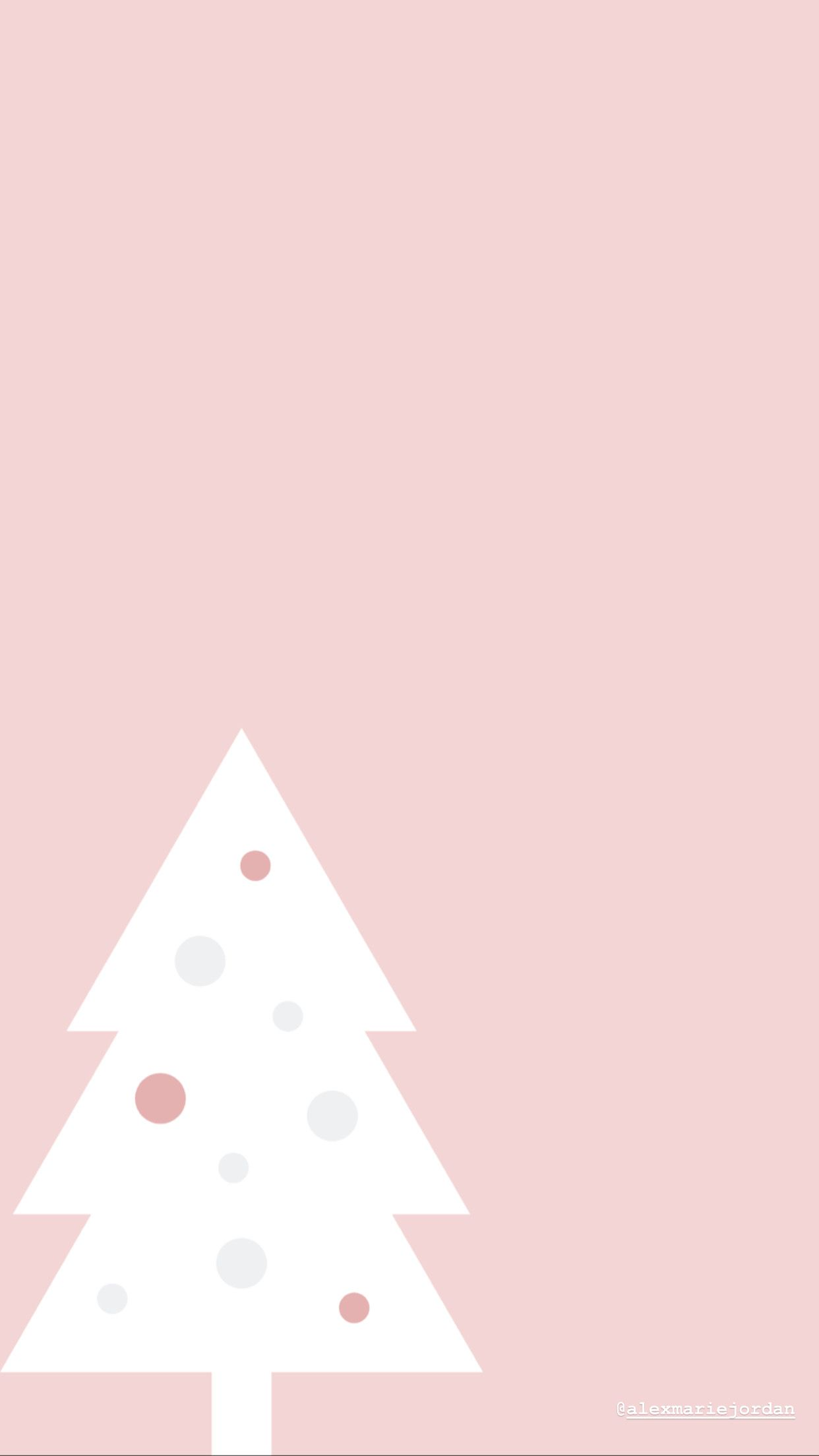 Pink Christmas Tree Wallpaper Christmas Tree Wallpaper Wallpaper Iphone Christmas Cute Christmas Wallpaper