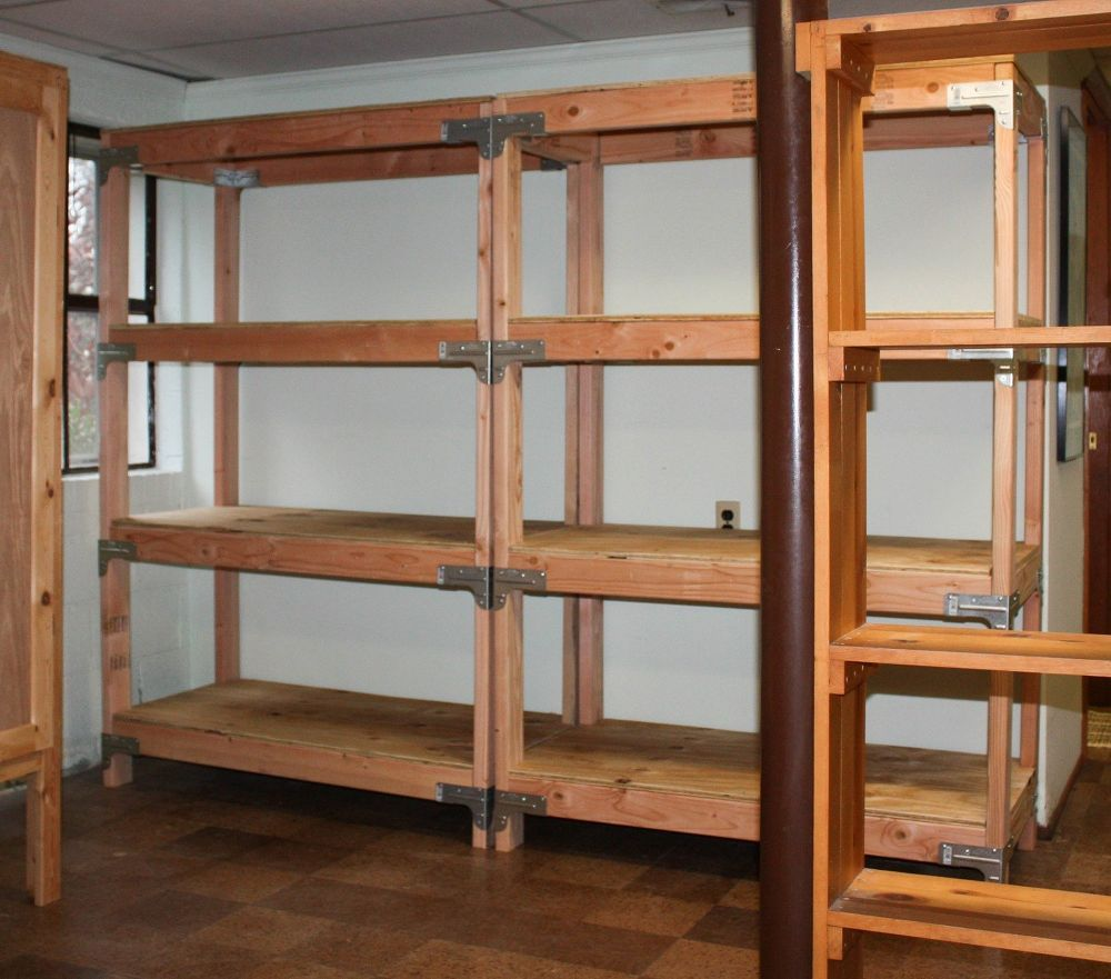 Diy 2x4 Shelving Unit Shelving Shelving Unit Plywood Storage